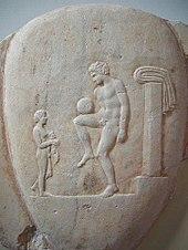 Giovane che gioca a palla, stele tombale del IV sec. a.C. (Photo dal web)