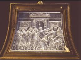 """""""Lavanda dei piedi"""" incisa da Valerio Belli su cristallo di rocca. Museo Civico di Palazzo Chiericati, Vicenza"""