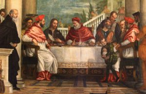 """Dettaglio della """"Cena di S. Gregorio Magno"""" di Paolo Veronese"""