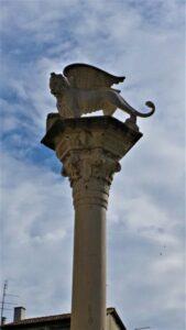Colonna del leone in piazza dei Signori a Vicenza