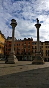 Le colonne di piazza dei signori a Vicenza