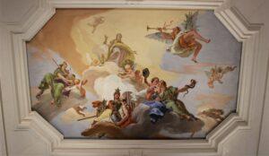 Soffitto affrescato da G.B. Tiepolo a villa Loschi Zileri Motterle (VI)