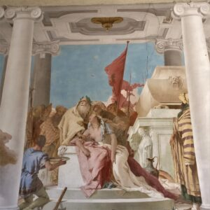 """""""Sacrificio di Ifigenia"""" di G.B. Tiepolo, villa Valmarana ai nani (VI)"""