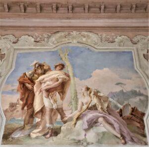 """""""Addio di Rinaldo ad Armida"""", G.B. Tiepolo a villa Valmarana ai nani (VI)"""
