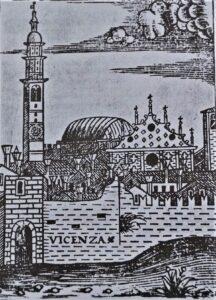 """Giovanni Battista Dragonzino da Fano, frontespizio del libro """"Nobiltà di Vicenza"""", 1525"""