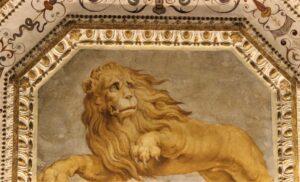 Sala del Firmamento, segno zodiacale del Leone