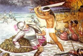 Morte di Magellano il 27 aprile 1521. Illustrazione dal web