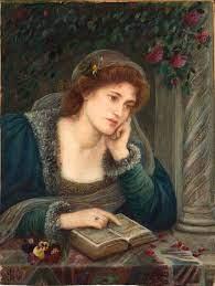 """Beatrice"", Maria Spartali Stillman, 1895, Wilmington Delaware Art Museum"